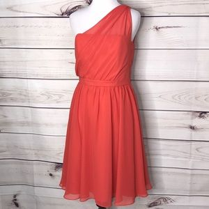 Alfred Angelo Persimmon Coral Chiffon Dress